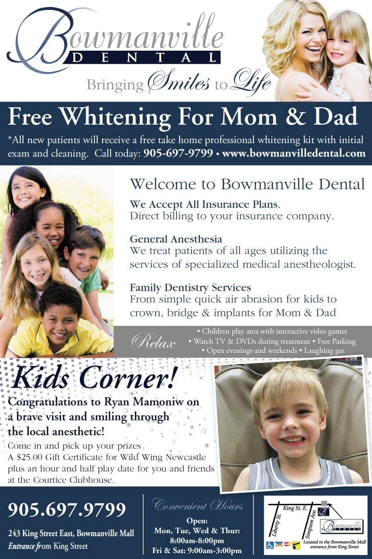 Kids Corner Winner at Bowmanville Dental