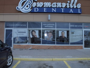 car drives in to bowmanville dental at the bowmanville mall 2
