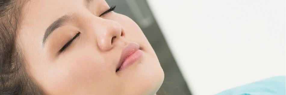 woman under sleep dentistry sedation