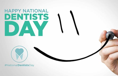national dentists day sign